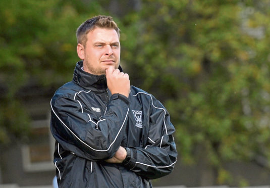 Huntly's manager Martin Skinner.
