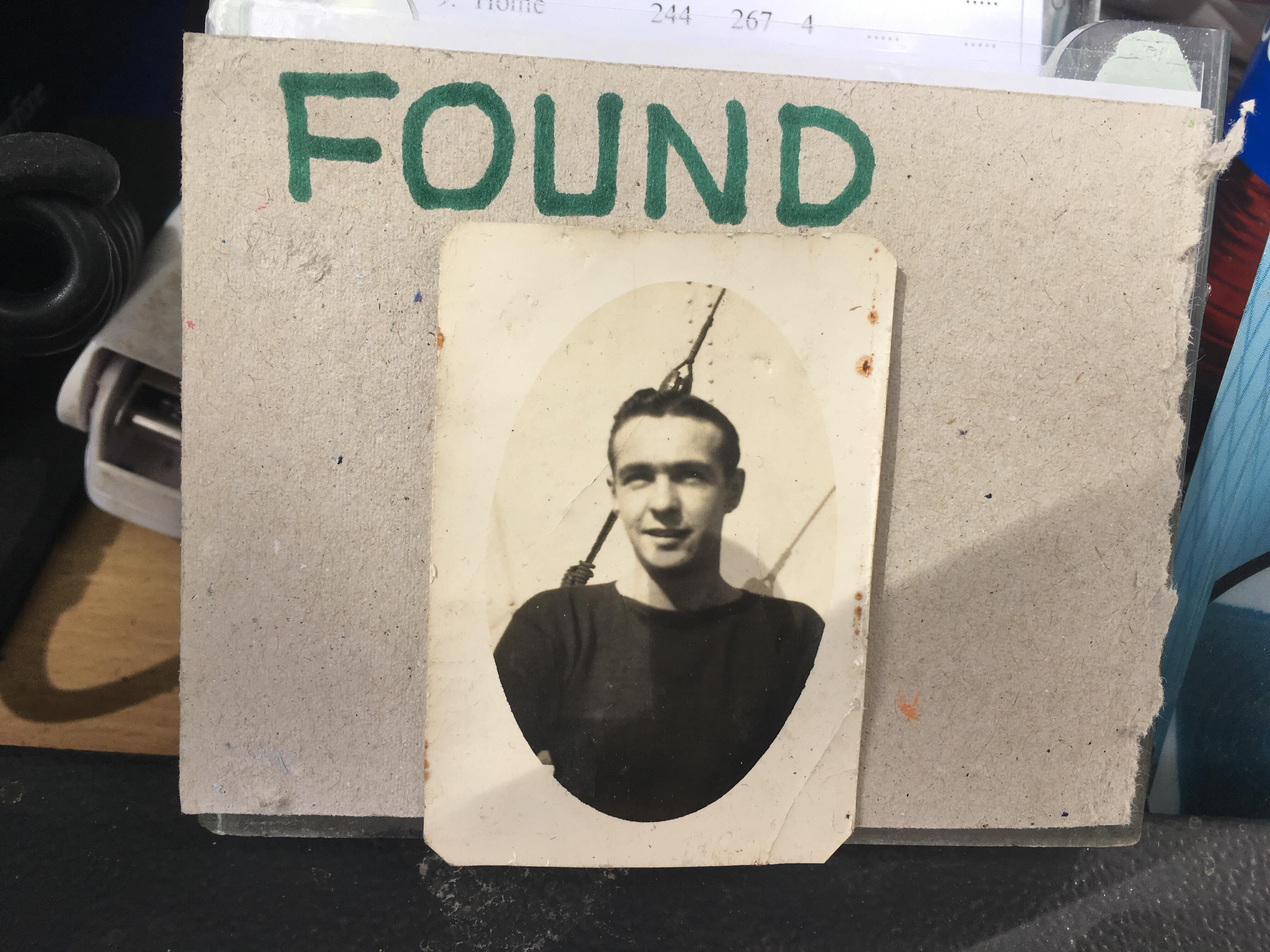 The mystery photograph left at Hazlehead Golf Course.