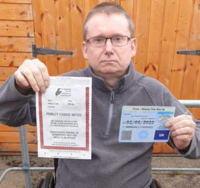 William Maclean who has short term memory loss was fined by Highland Council for not displaying his Blue Badge.