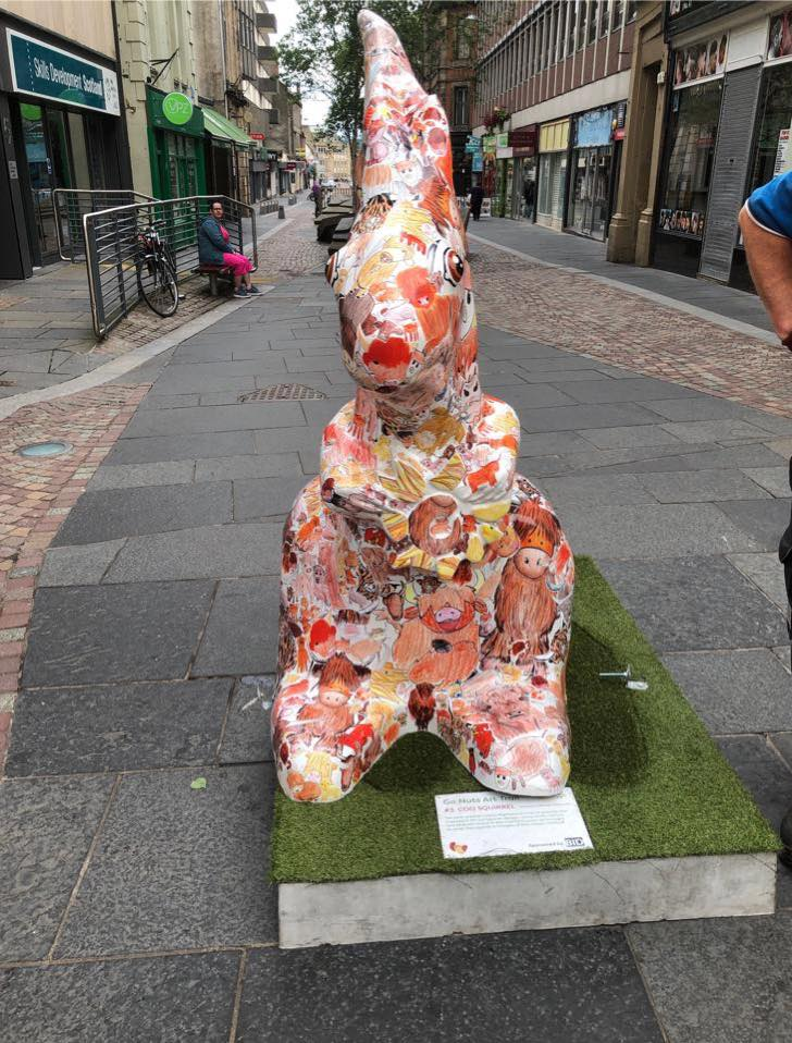 The squirrel was knocked from its plinth by vandals at the weekend.
