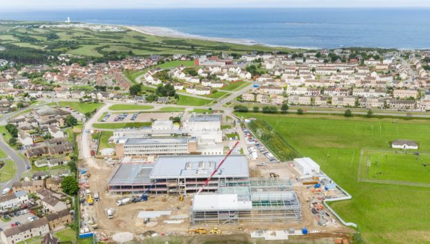 Construction is underway on a replacement for Lossiemouth High School.