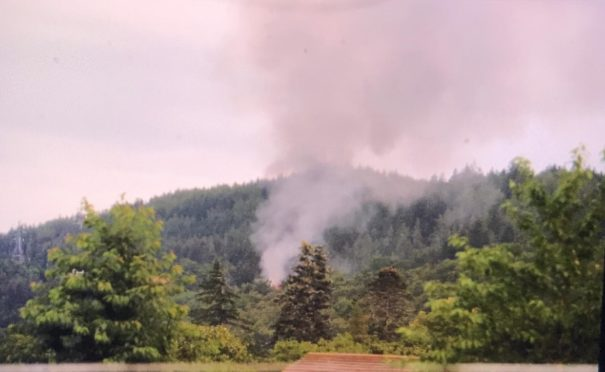 Fire crews are in attendance at Boleskine House. Picture by Julia Sidell