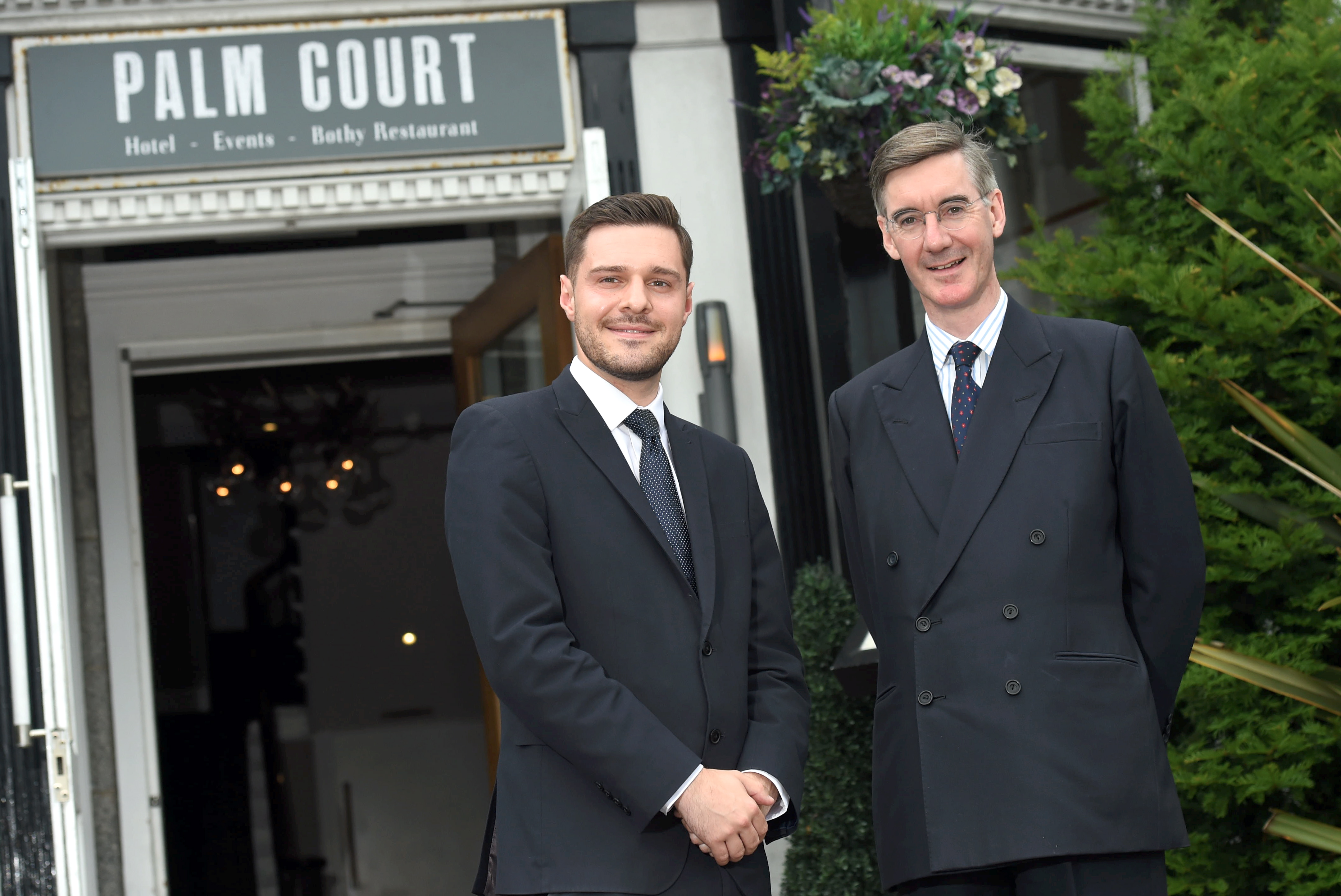 Aberdeen South MP Ross Thomson, left, and Jacob Rees-Mogg MP, right.
