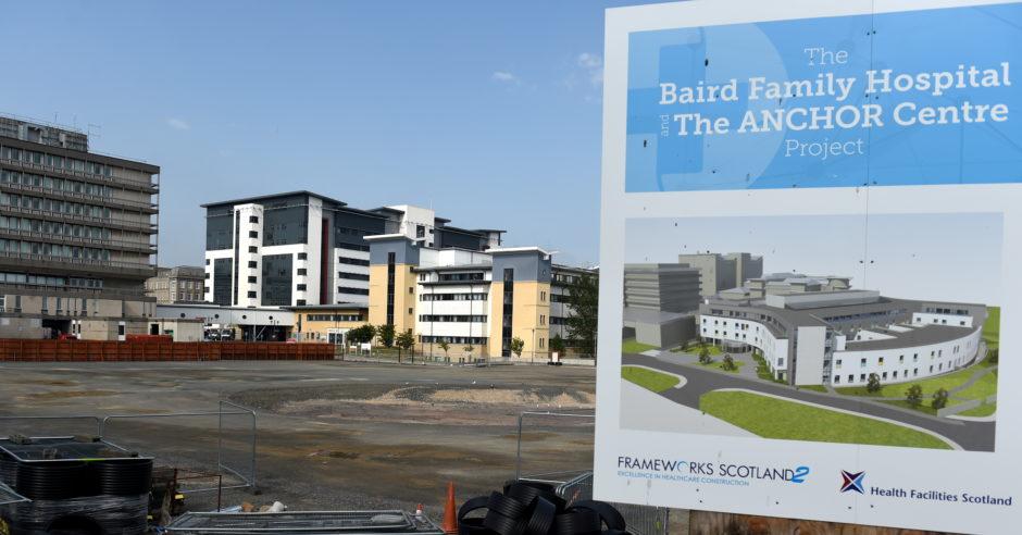 The Baird Family Hospital construction site, across from Royal Aberdeen Children's Hospital.