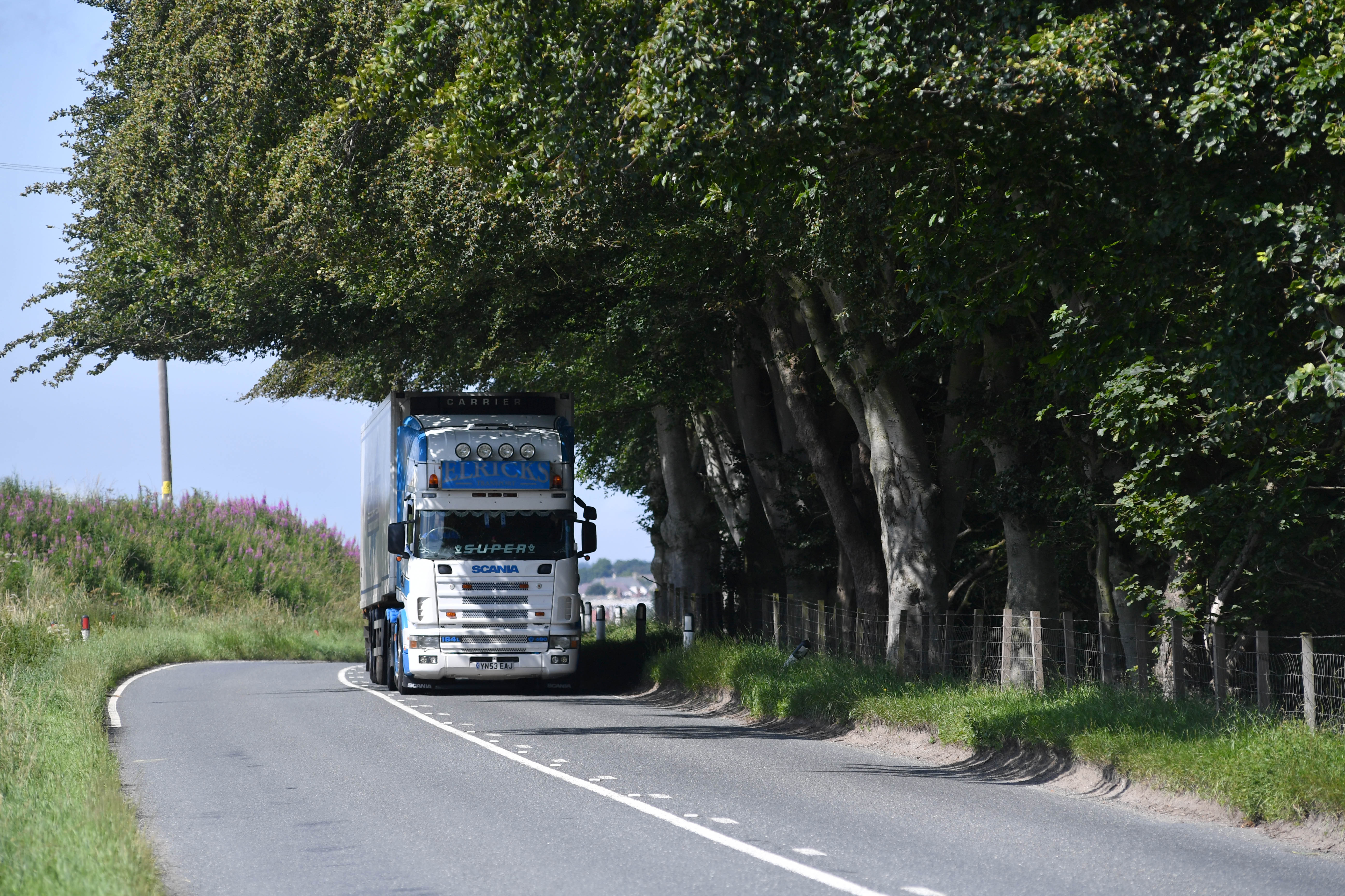 The A947 south of Turriff.