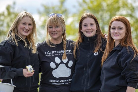 Fundraisers for the SSPCA base at Drumoak