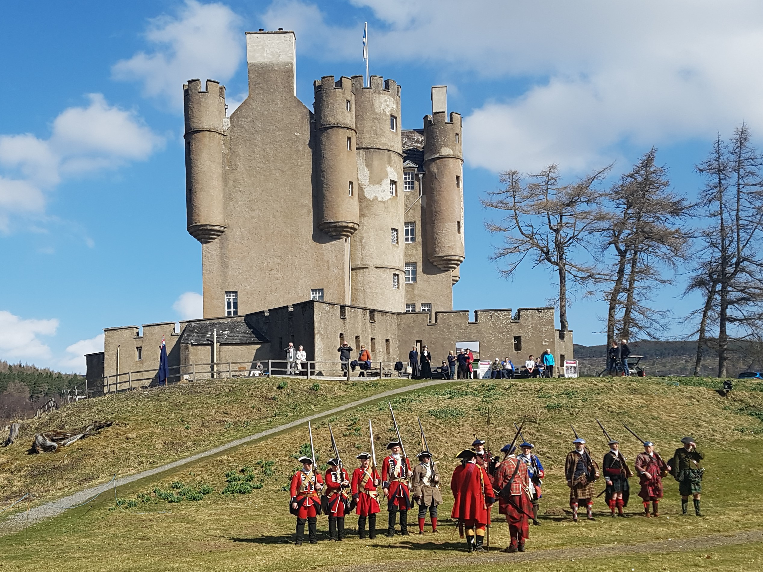 A re-enactment at the castle.