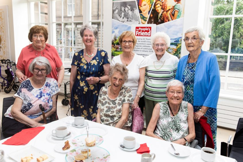 The Peoples Friend - Dundee - The Peoples Friend Tea Party - CR0011051 - Dundee - Picture Shows:  - Sunday 30th June 2019 -Attendees enjoy the social chatting at the Peoples Friends Tea Party-  Steve Brown / DCT Media