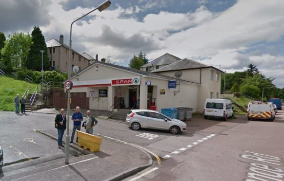 Screenshot of the Spar store on Grange Road in Fort William.