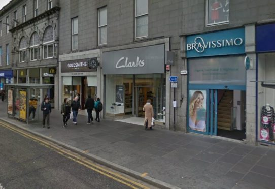 Clarks shoe shop on Union Street.