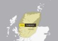 Yellow weather warning issued to the Highlands