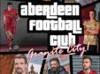 The Aberdeen FC match day programme design.
