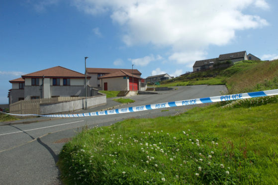 Scene of the death in Lerwick.