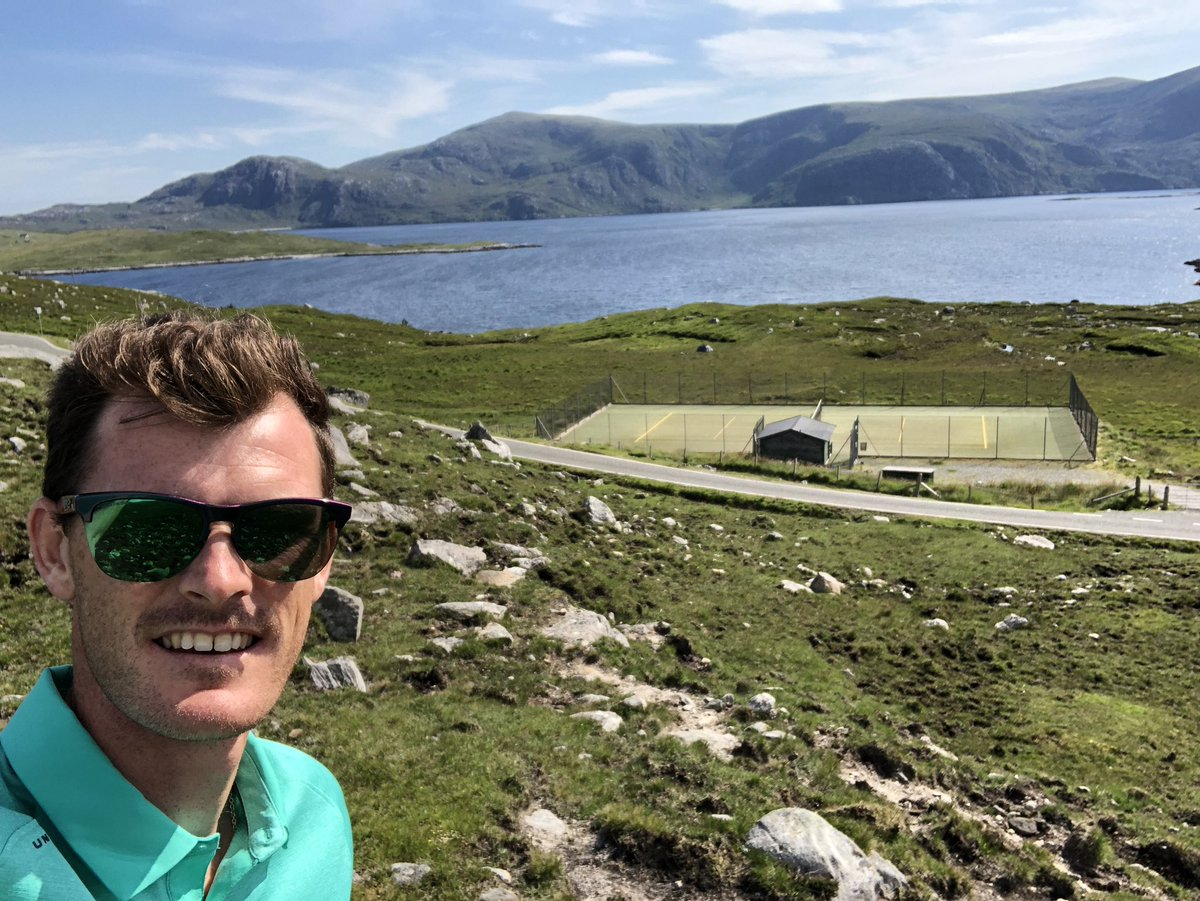 Jamie Murray at Bunabhainneadar on the Isle of Harris.