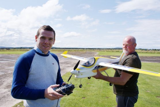 Moray MP Douglas Ross backed the Dallachy Aeromodellers