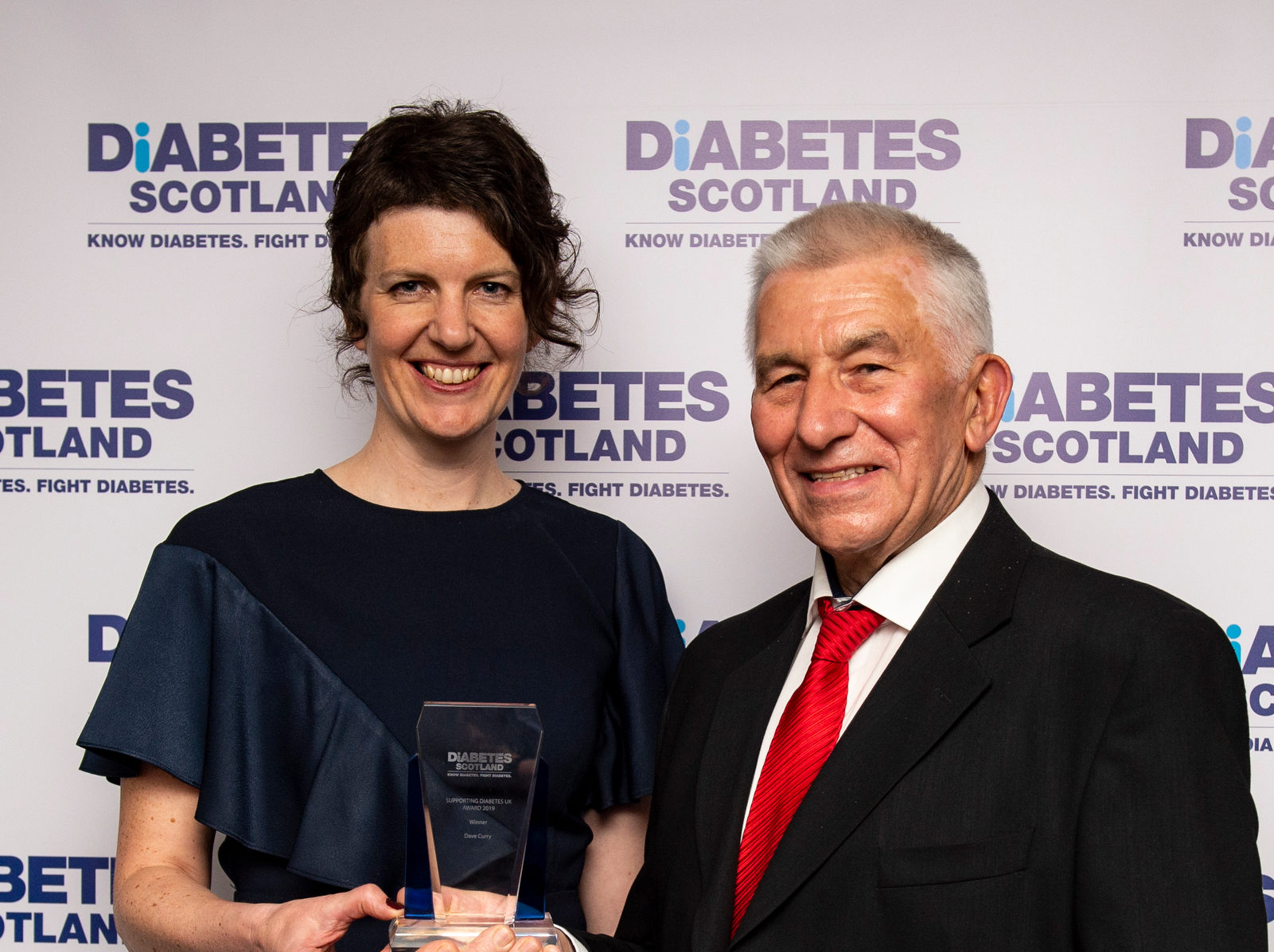 Dave Curry with Diabetes Scotland National Director, Angela Mitchell.
