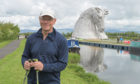 Douglas Sewell at The Kelpies