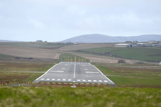 Kirkwall Airport. Picture by Sandy McCook.