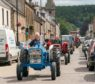 The tractor parade arrives in the Square, Fochabers
