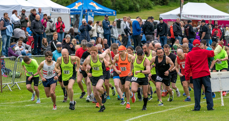 The start of the 10k with 86 Sunny McGrath being the winner.