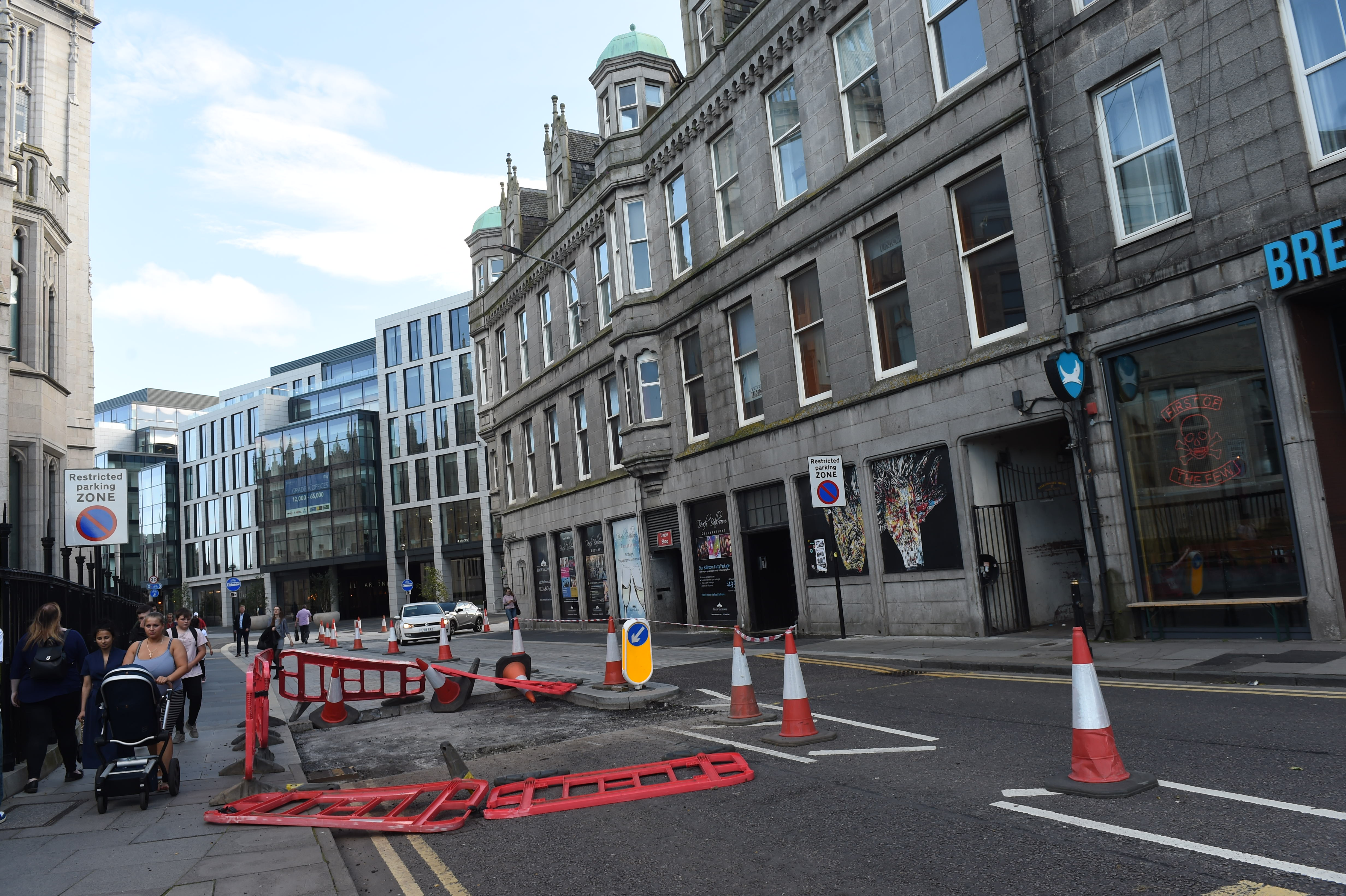 Broad Street is closed for a week while repairs are carried out.