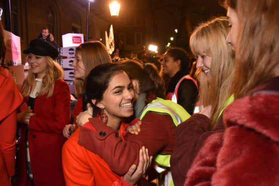 LONDON, ENGLAND - DECEMBER 20:  Amika George attends the #FreePeriods Protest at Richmond Terrace on December 20, 2017 in London, England.  (Photo by David M. Benett/Dave Benett/Getty Images)