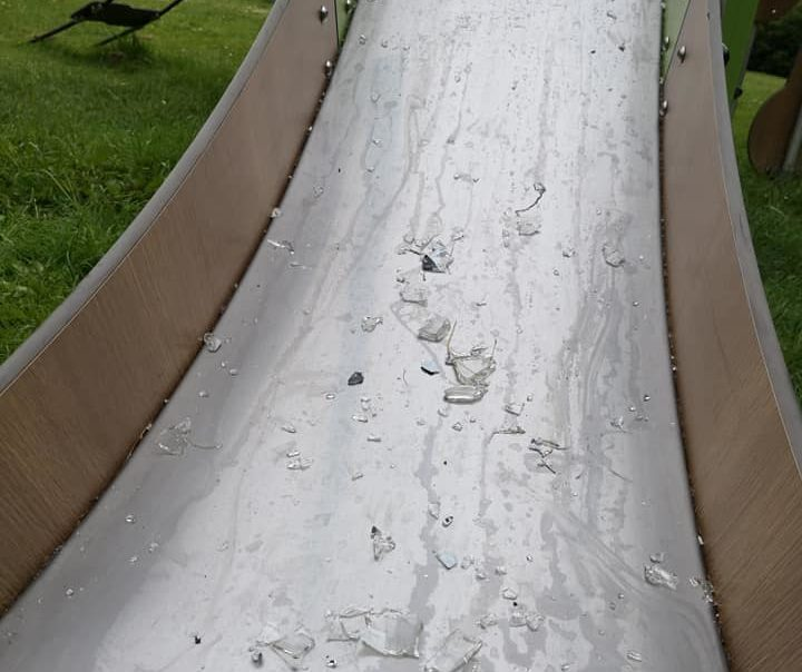 Glass found in the playpark near Cruickshank Crescent in Bucksburn