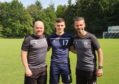 Ross County co-managers Steven Ferguson, left, and Stuart Kettlewell with new signing Simon Power.