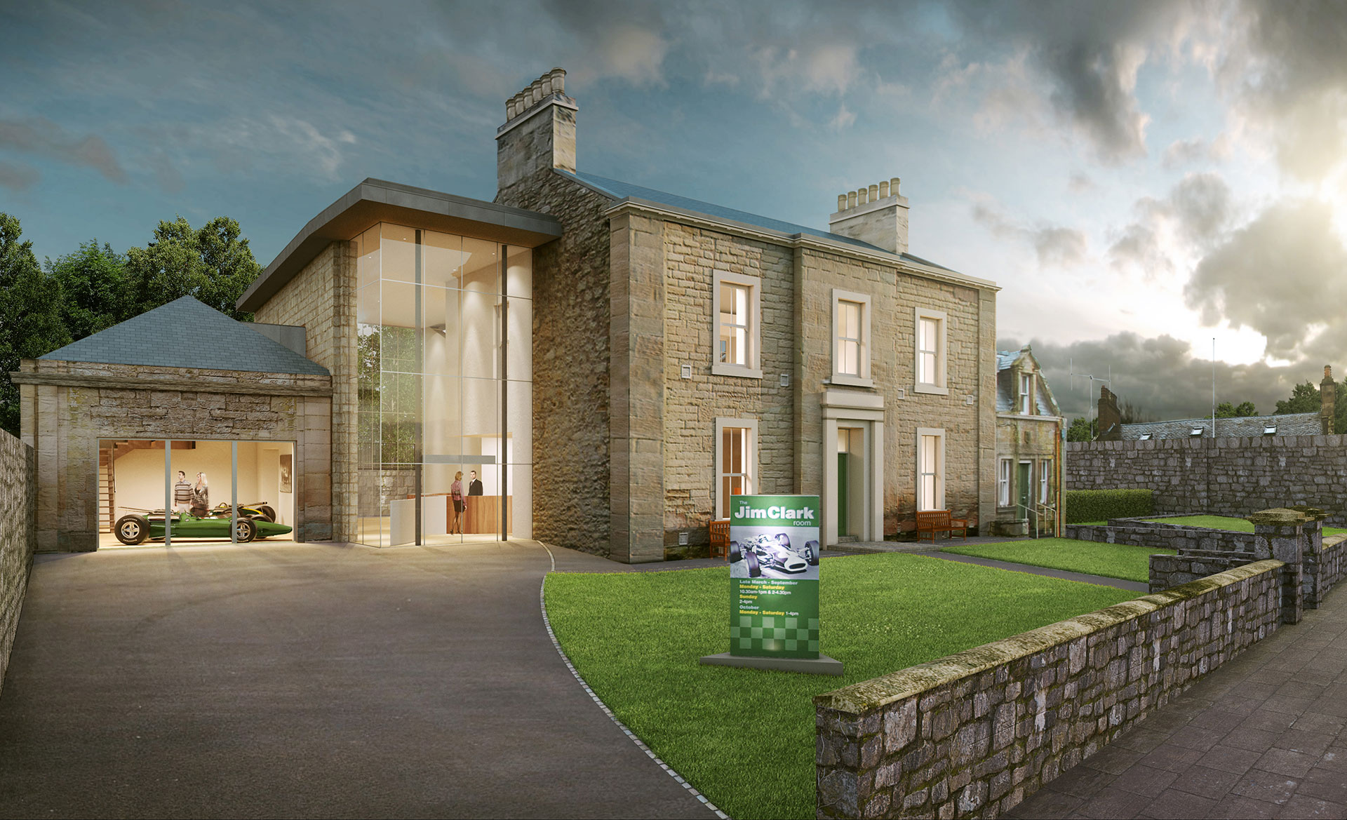 The new museum has been backed the Jim Clark Trust.