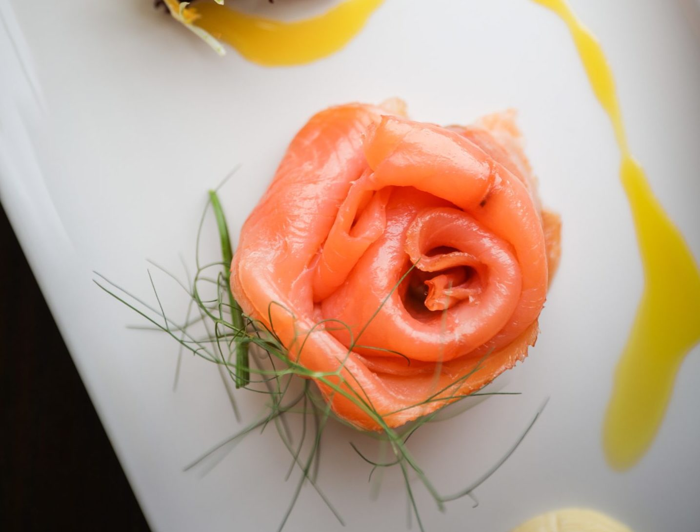Smoked salmon with Safron aioli. Pictures by Kris Miller
