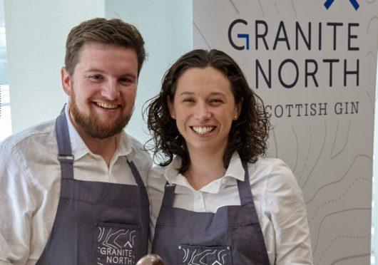 Sandy Matheson and Kirstie Nisbet of Granite North gin
