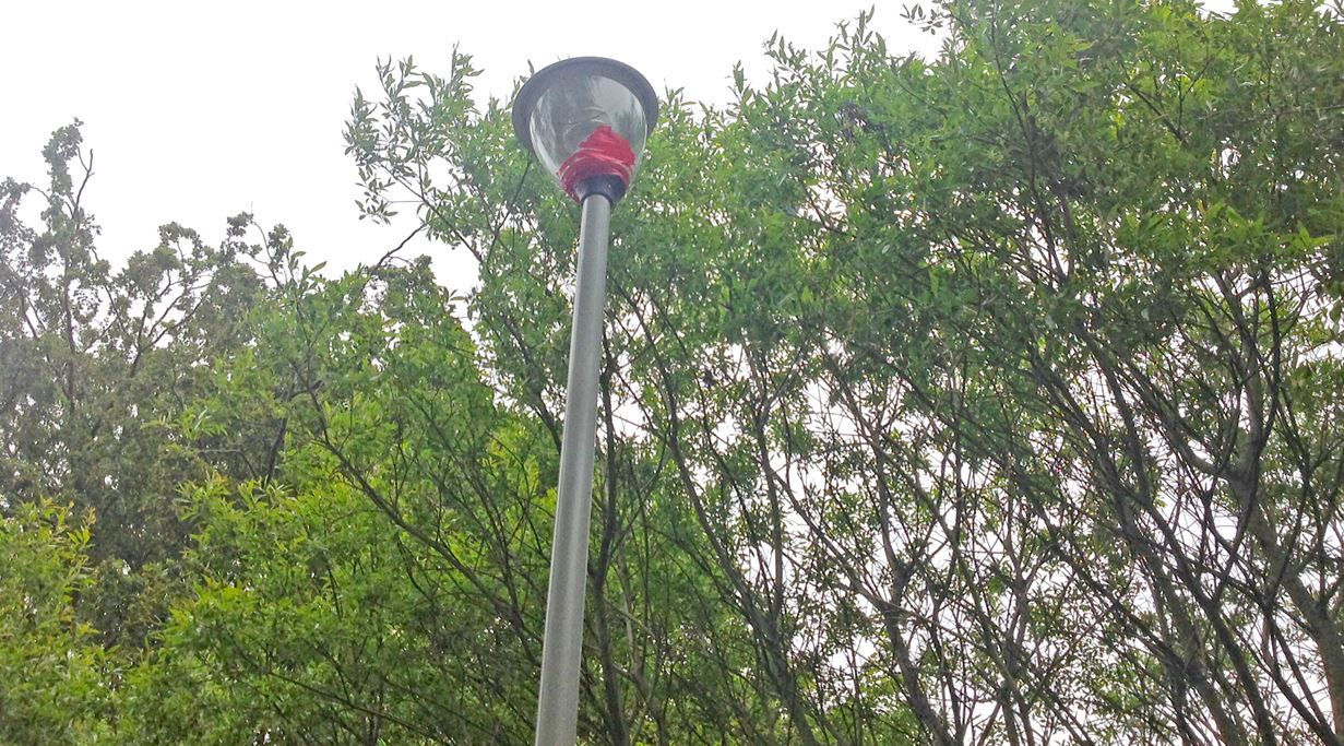 One of the lampposts
