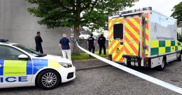 Police on Lerwick Road, Sheddocksley