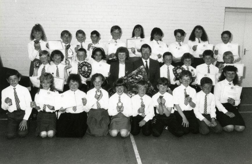 Lochpots Primary School - Prizewinners, June 1991.
