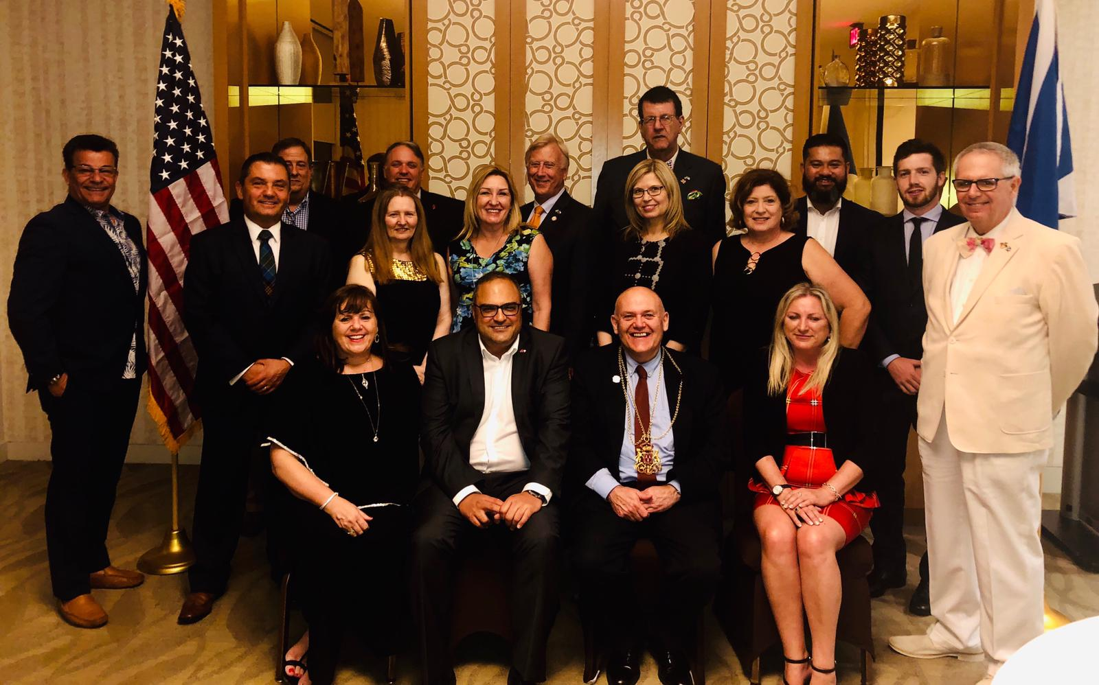 •The Lord Provost of Aberdeen Barney Crockett is seated next to Her Majesty's Consul General in Houston Richard Hyde at a special dinner organised by the Houston Aberdeen Association at the Houston Club on Tuesday 16 July.