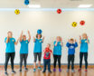 Children play within the new Moray Sports Centre which officially opened yesterday,