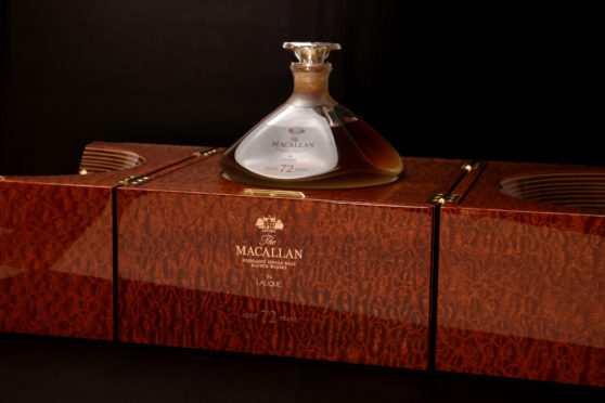 72-year -old Macallan which sold for £90,750.