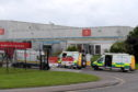 Emergency crews at the Aberdeen mail centre