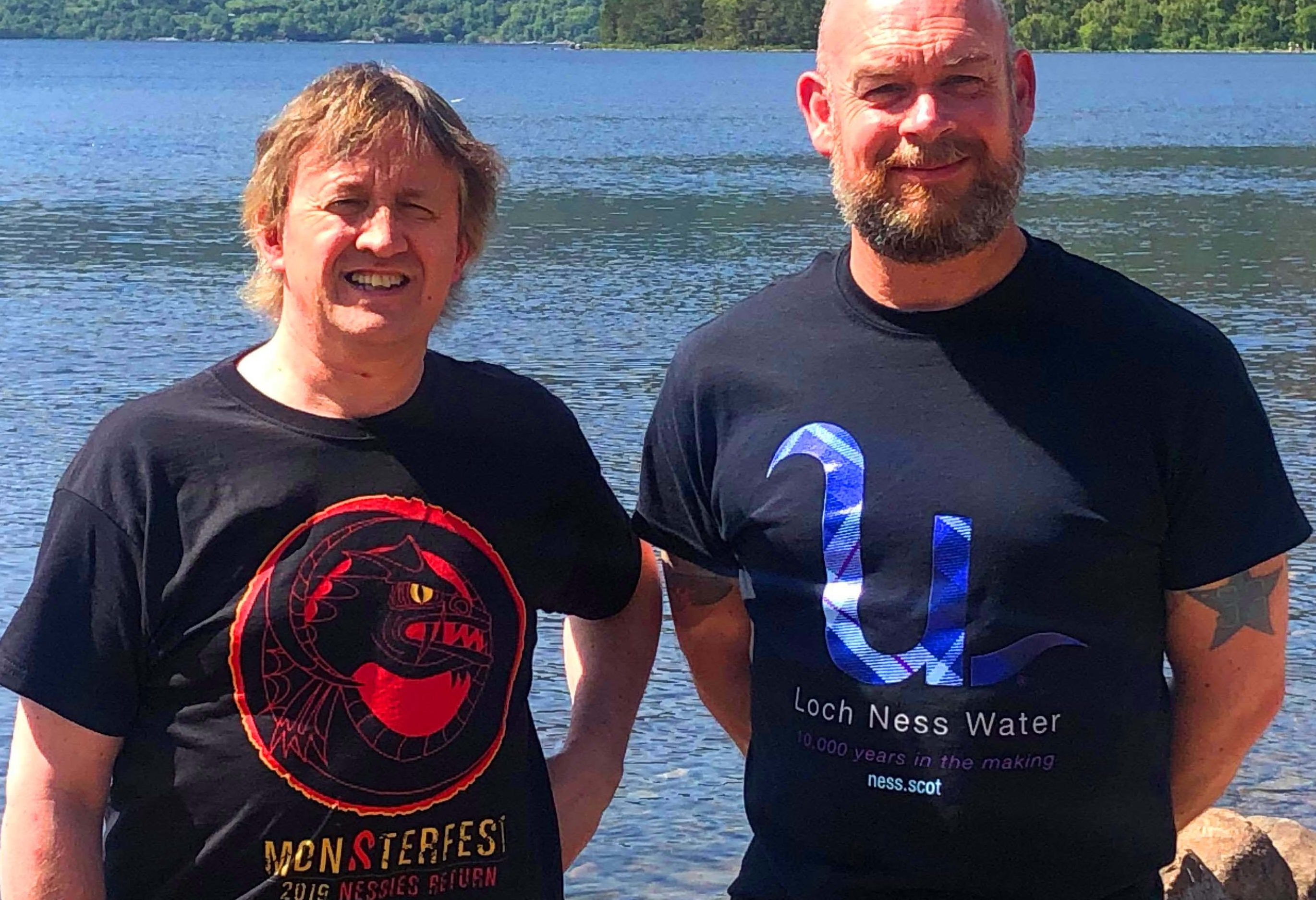 Festival Director Mark Allison and Loch Ness Water founder John Oag on the banks of Loch Ness as the event is launched for a second year
