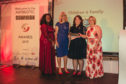 Catriona Innes (black dress) collected the award on behalf of the joint initiative at the event in Birmingham.