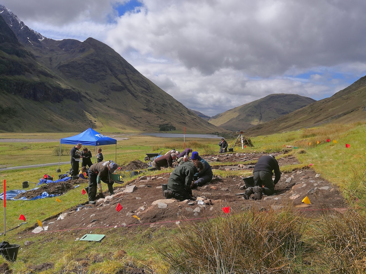 National Trust for Scotland volunteers on a recent dig