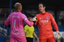 Mark Ridgers and Peterhead counterpart Greg Fleming both had to take penalties on Tuesday.