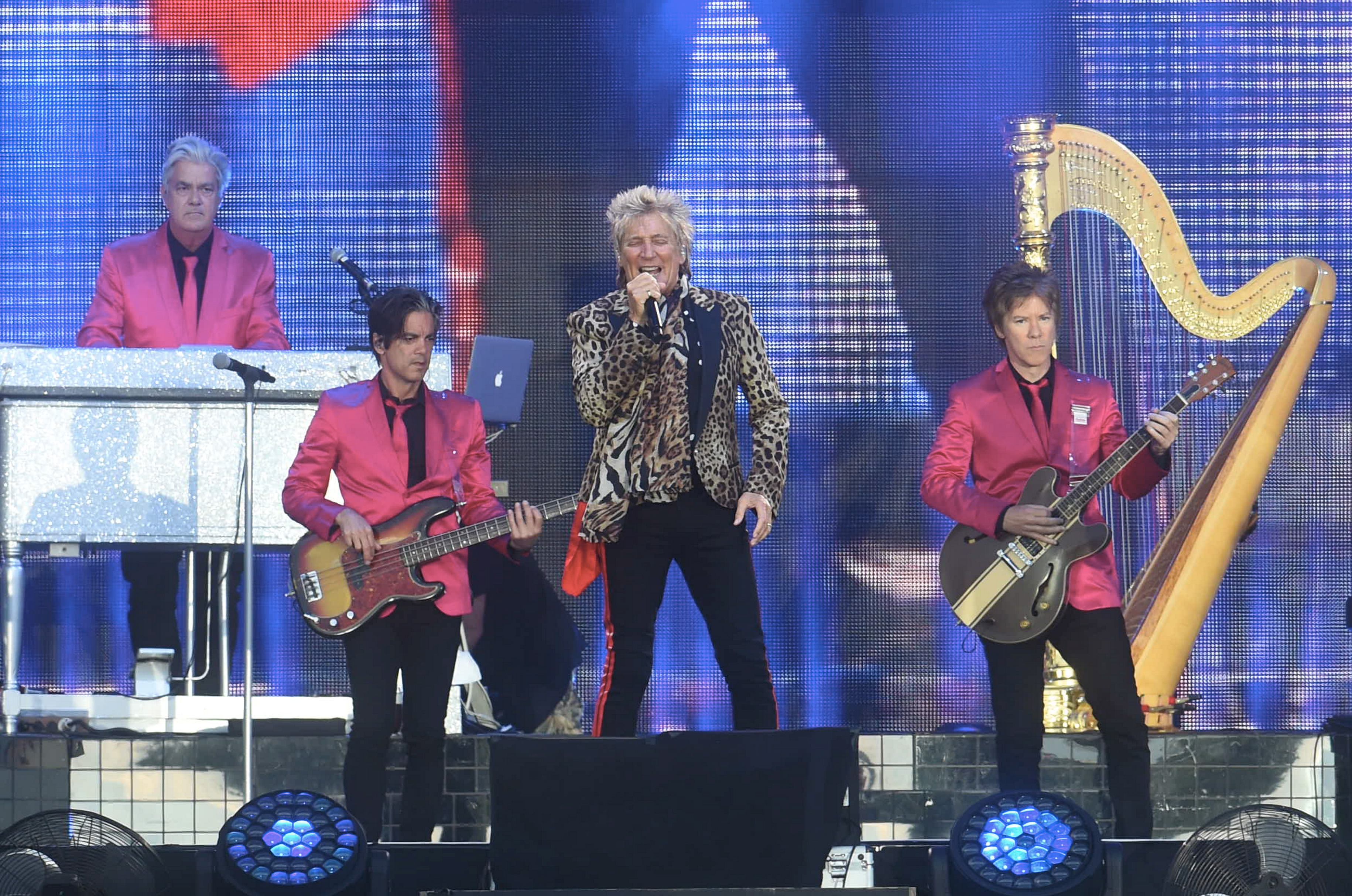 Sir Rod Stewart played the final AECC concert last night.