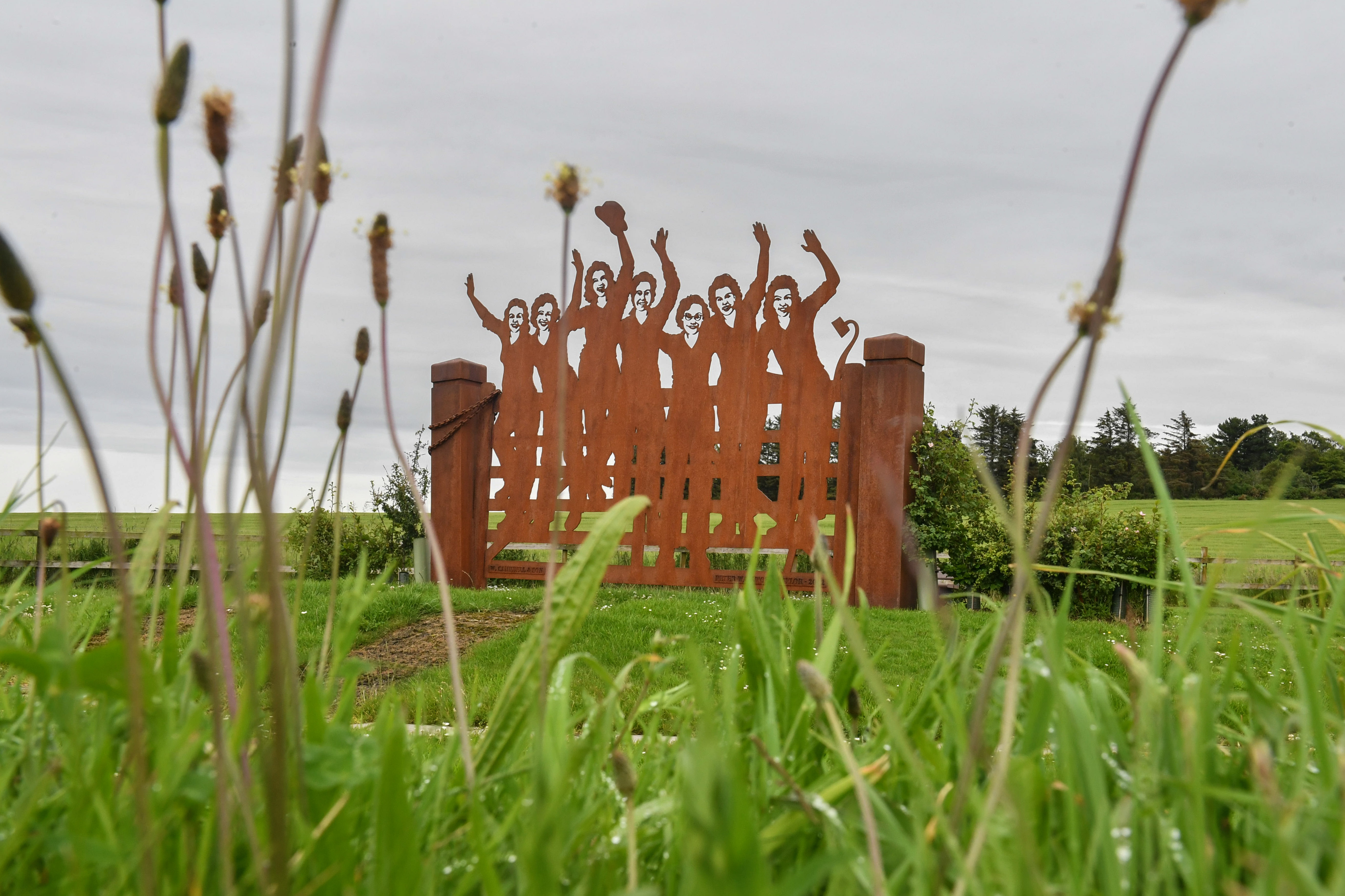 Pictures by JASON HEDGES      Pictures show the memorial to the land girls at Clochan, near Buckie where weeds are beginning to take over.  Pictures by JASON HEDGES