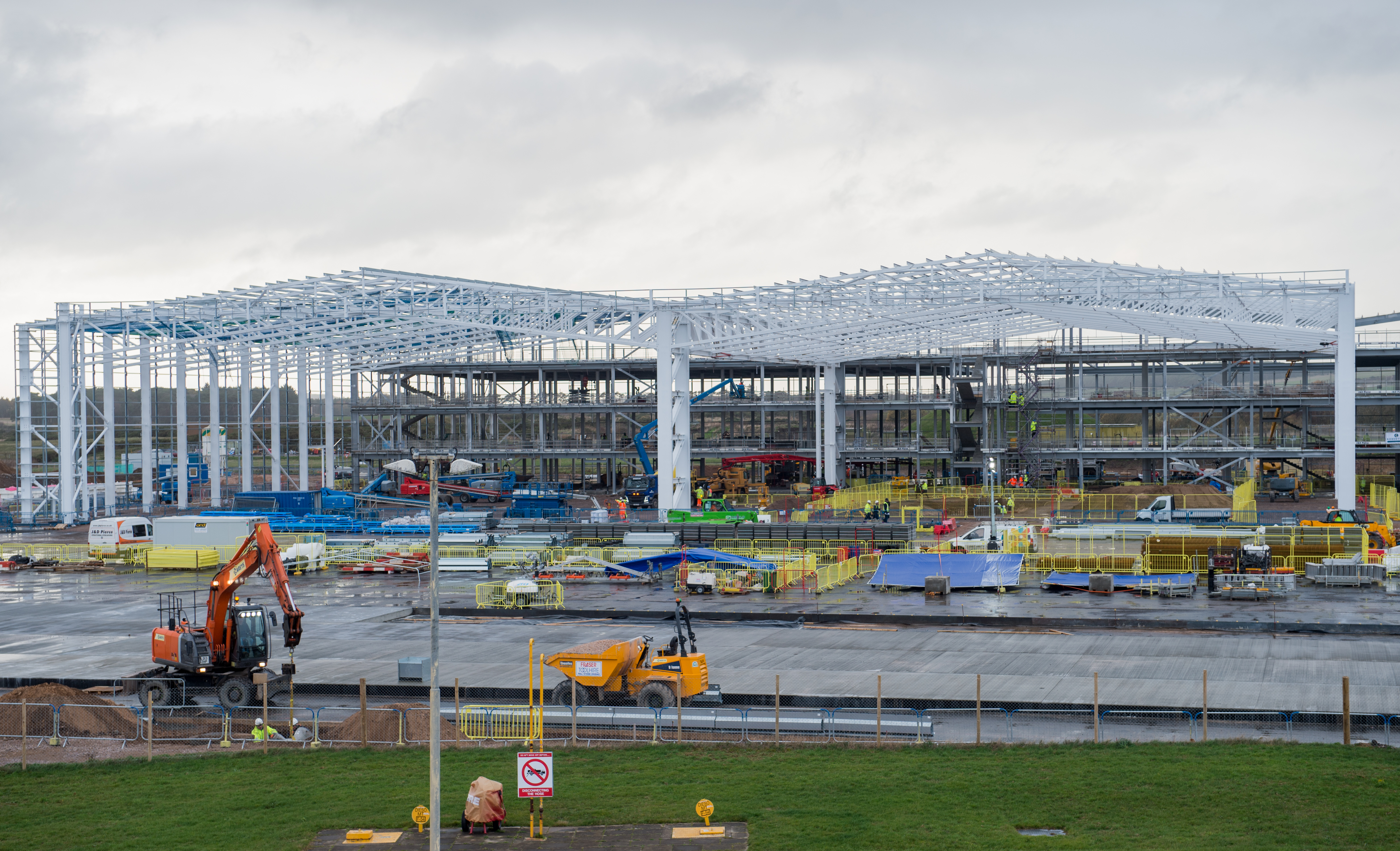Construction is underway on the new hangar at RAF Lossiemouth.