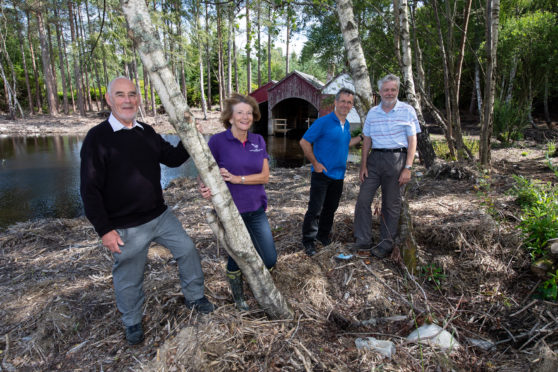 George McIntyre (Trustee of the Gordon & Ena Baxter Foundation),Margaret Stenton (Trustee of the Gordon & Ena Baxter Foundation), Carlo Miele (Trustee and Treasurer - Friends of Blair's Loch) and Brian Higgs (Trustee and Treasurer - Friends of Blair's Loch).