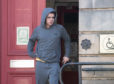 Dylan Richards leaving Elgin Sheriff Court.
