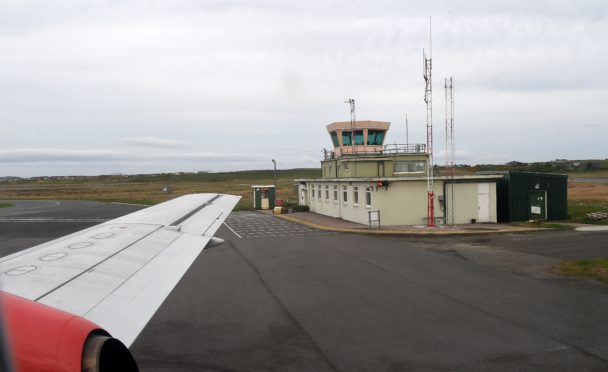Stornoway Airport control tower.