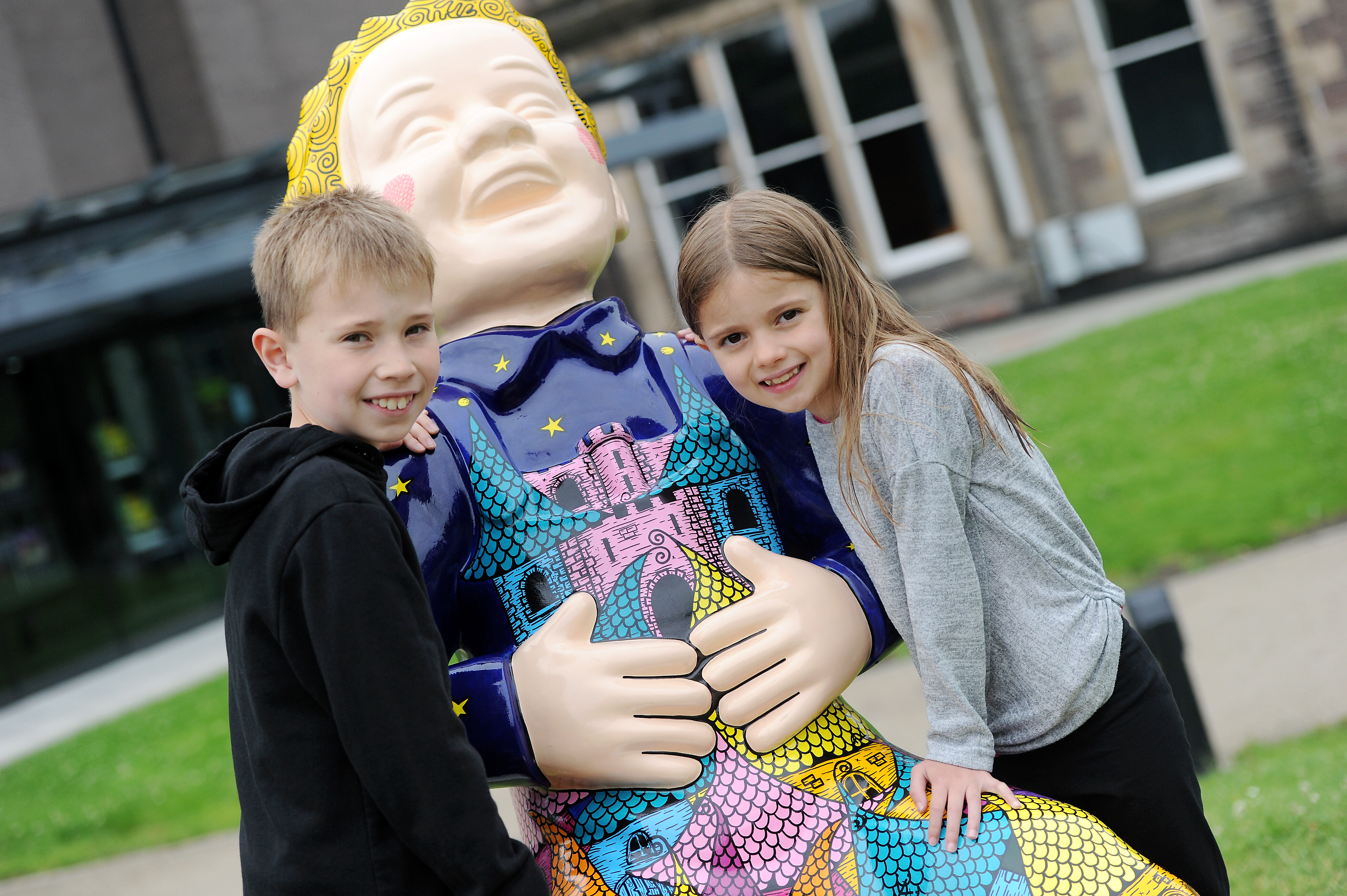 Oor Willie at Eden Court Theatre, Inverness.   On holiday in the highlands from Bridge of Don, Aberdeen, Ben (10) and Grace (7).