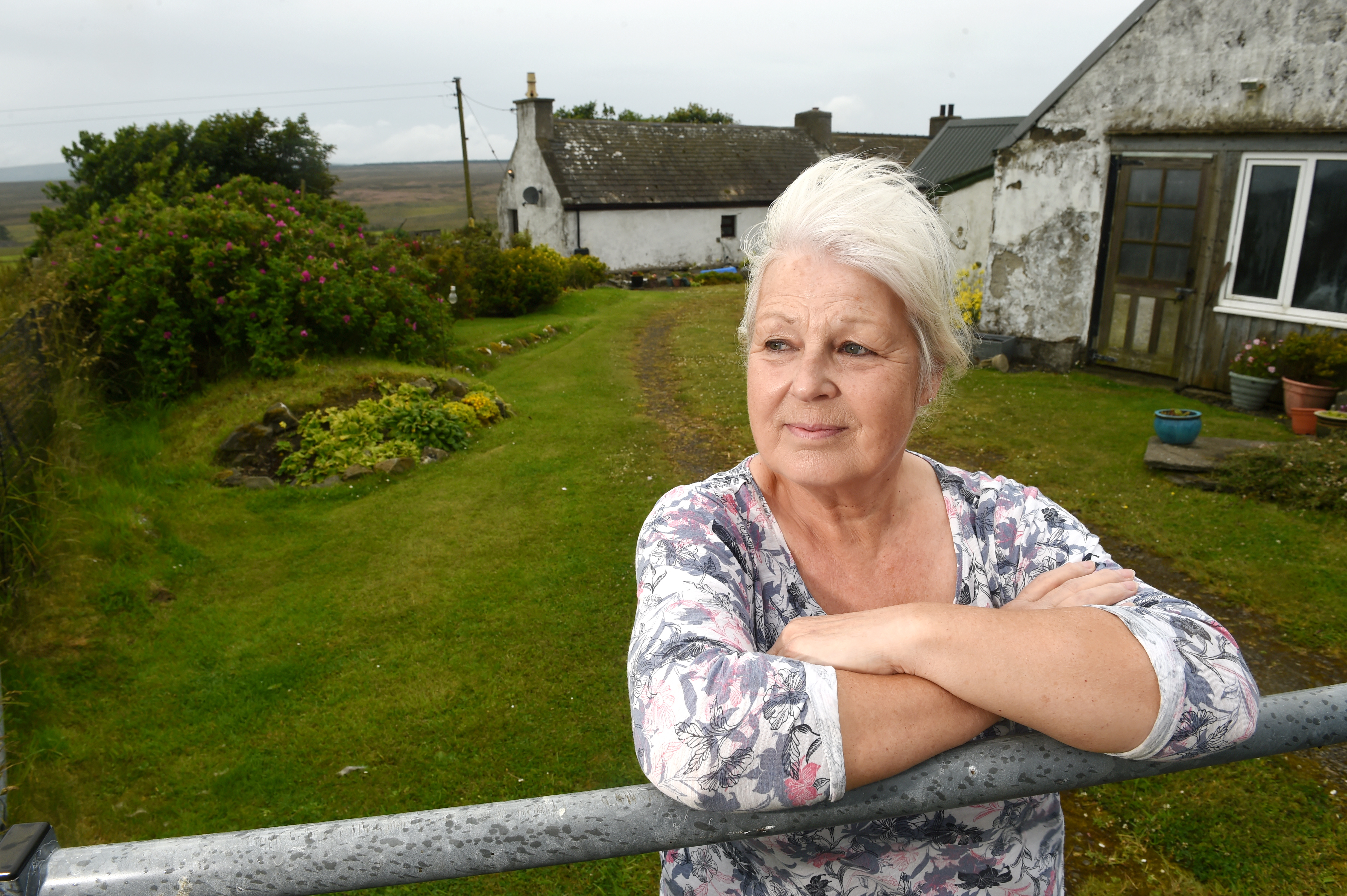 Janet Cowin of Braeval Farm Cottage of the Rumster anti-windfarm group whose outlook willbe dominated by massive turbines running along the horizon.